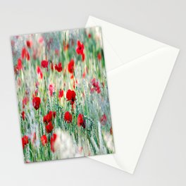 Summer Love, Poppy meadow Stationery Cards