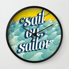 Sail on sailor, Wall Clock