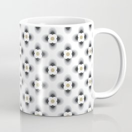Pattern flowers color grey gradient Coffee Mug