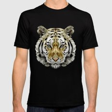 Fractal Tiger Mens Fitted Tee SMALL Black