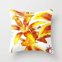 lily Throw Pillows featuring Lily by ANoelleJay