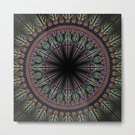 Fantasy flower and petals mandala Metal Print