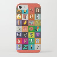 alphabet iPhone & iPod Cases featuring Alphabet by rob art   simple