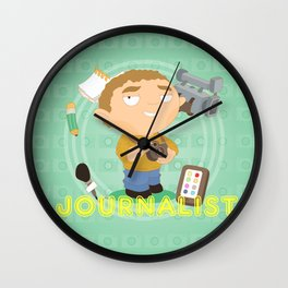 Journalist Wall Clock