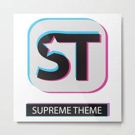 Supreme WordPress Theme Metal Print