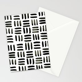 Brush and Ink Mudcloth Pattern Stationery Cards