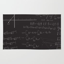 Mathematical seamless pattern Rug