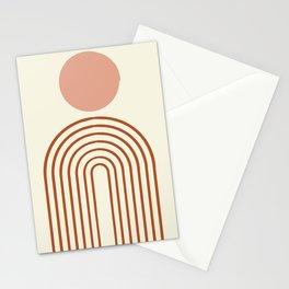 Full moon rainbow Stationery Cards