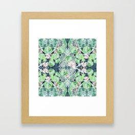Dark Tropics Pattern by Kristen Baker Framed Art Print