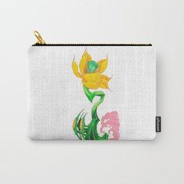 Green Diamond Mech Lotus Carry-All Pouch