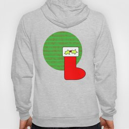 Christmas stocking with holly Hoody