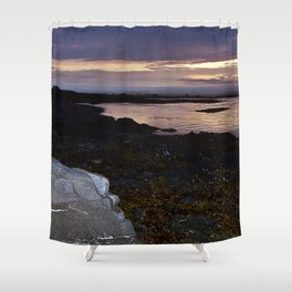 Rock Faced Sunset Shower Curtain