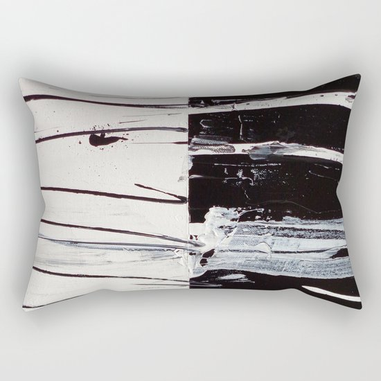 Black & White Close Up Rectangular Pillow