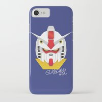 gundam iPhone & iPod Cases featuring Gundam Material by IOSEF
