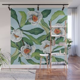 Franklin tree flowers Wall Mural