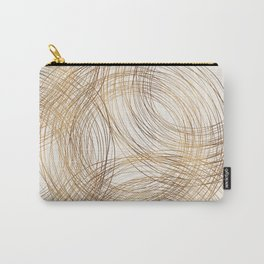 Metallic Circle Pattern Carry-All Pouch