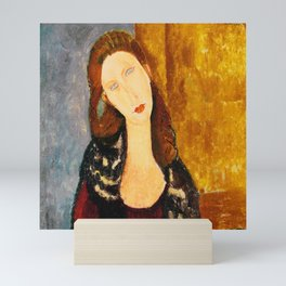"Amedeo Modigliani ""Jeanne Hebuterne, seated"" Mini Art Print"