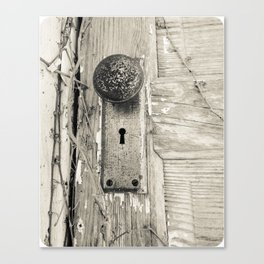 Through The Keyhole Canvas Print