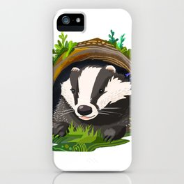 Badger and Bluebells iPhone Case