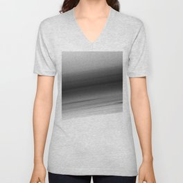 Gray White Smooth Ombre Unisex V-Neck