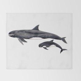 Pygmy killer whale Throw Blanket