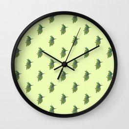 Leafed Birdie Wall Clock