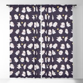 Baby Barn Owls - dark Blackout Curtain