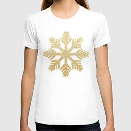Gold Glitter Snowflake T-shirt