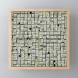 Yellow green pixels fashion Framed Mini Art Print