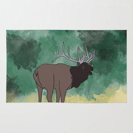 Bull Elk Bugling Rug