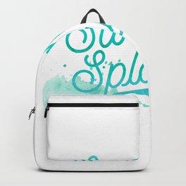 Summer splash - Typography - Holiday Beach Maritime Fun Water Backpack
