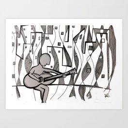 Urban Guitarist  Art Print