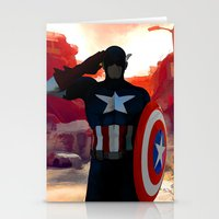 captain silva Stationery Cards featuring Captain by Scofield Designs