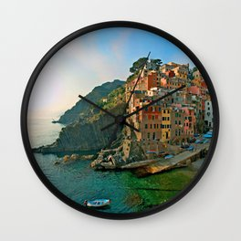 Italy. Cinque Terre - Canal side Wall Clock