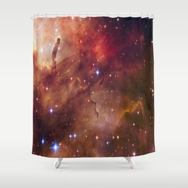 picture of star by hubble: westerlund Shower Curtain