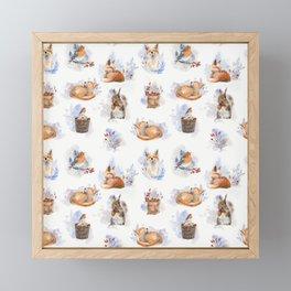 Woodland friends Framed Mini Art Print