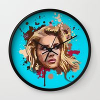 lana Wall Clocks featuring Lana by Devis Pederzini