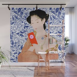 confused timeline with japanese lady Wall Mural