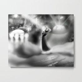 UFO Encounter [Digital Fantasy/Figure Illustration] Metal Print