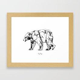 Kubism polar bear Framed Art Print