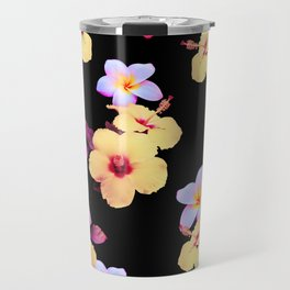 Hibiscus and Plumeria Travel Mug