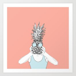 Pinapple Head Art Print