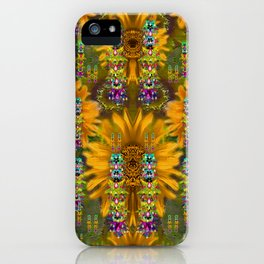 Magic Fantasy Sun Rose Fields iPhone Case