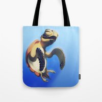 turtle Tote Bags featuring Turtle by Anya McNaughton