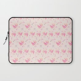 Pink Floral Pattern Laptop Sleeve