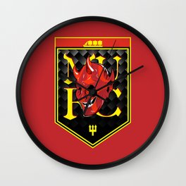 Man Red badge Wall Clock