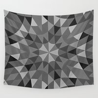 gray pattern Wall Tapestries featuring Gray Pattern by 2sweet4words Designs