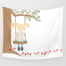 On the Swing, In the Tree Wall Tapestry