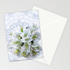 pretty bouganvillea on delicate kaleidoscope Stationery Cards