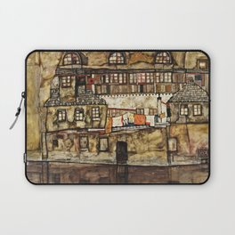 Egon Schiele - House Wall On The River Laptop Sleeve